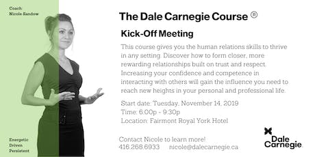 Dale Carnegie Course® - Kick-off (Toronto) tickets
