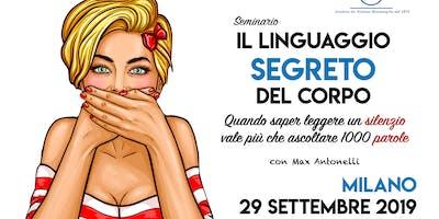 """Seminario ★ """"IL LINGUAGGIO SEGRETO DEL CORPO"""" con Max Antonelli"""