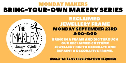 Bring Your Own Makery Series: Reclaimed Jewelery Collage Frame