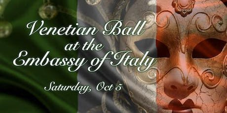 Black Tie Venetian Ball at the Embassy of Italy tickets