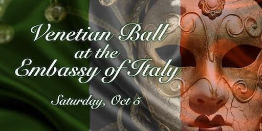 Black Tie Venetian Ball at the Embassy of Italy