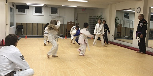 BJJ intro class for kids !