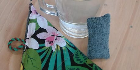 Zero waste wipes and sponges making tickets