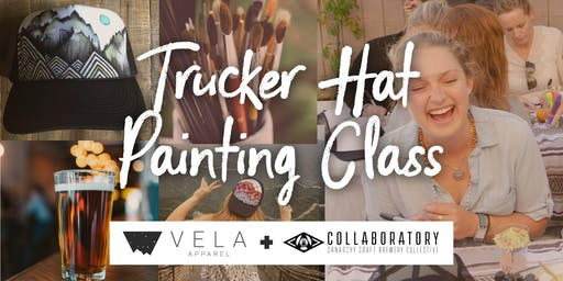 Craft on Craft // Trucker Hat Painting Class