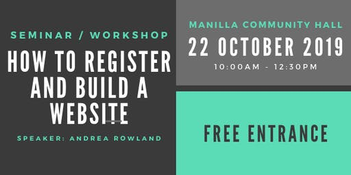 How to Register and Build a Website (Seminar / Workshop)