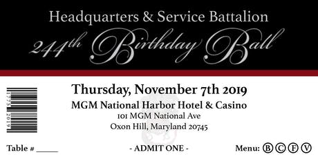 HQSVBN 244th Marine Corps Birthday Ball tickets