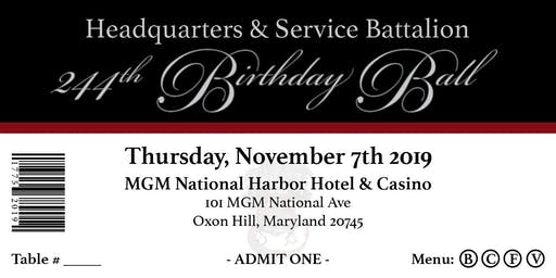 HQSVBN 244th Marine Corps Birthday Ball
