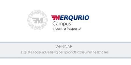 Digital e social advertising per i prodotti consumer healthcare biglietti