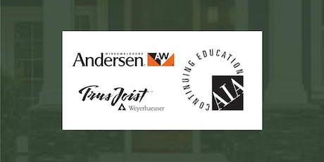 Woodhaven 2019 CE Series: Andersen Windows & Weyerhaeuser Seminar on Oct 8 tickets