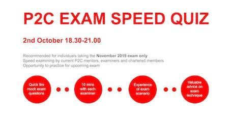 P2C Exam Speed Quiz Oct 2019 tickets