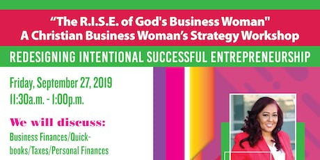 """The R.I.S.E. of God's Business Woman"" -  September 2019 tickets"