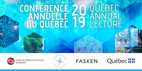 Québec Annual Lecture 2019 / Conférence annuelle du Québec 2019 tickets