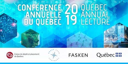 Québec Annual Lecture 2019 / Conférence annuelle du Québec 2019