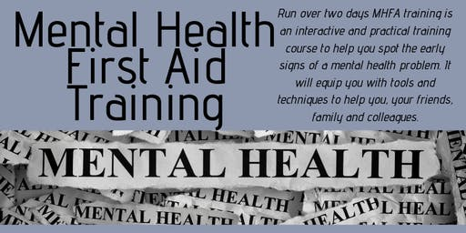 Mental Health First Aid Training (2 Day Course) October