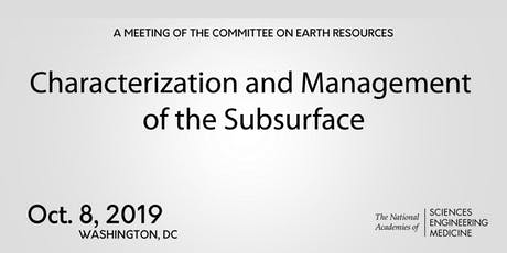 CER: Characterization and Management of the Subsurface tickets