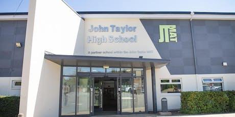 John Taylor High School Sixth Form Open Evening Presentations tickets