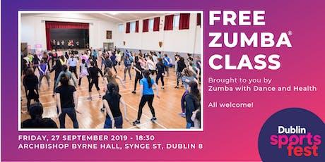 Free Zumba® Class - Part of Dublin SportsFest Week tickets