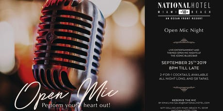 Open Mic at The National Hotel tickets