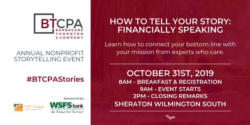 BTCPA Presents How to Tell Your Story: Financially Speaking