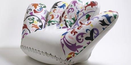 Il design contemporaneo: dalla poltrona alla borsa. Hussain Harba biglietti