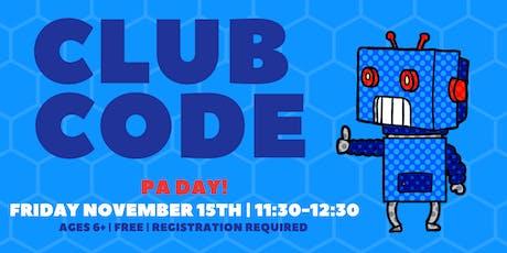 Club Code tickets