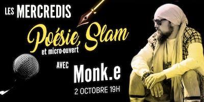 Poésie/Slam et micro-ouvert avec Monk.e
