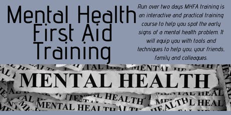 Mental Health First Aid Training (2 Day Course)November tickets