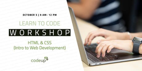 Learn to Code Workshop - HTML & CSS (Intro to Web Development) tickets