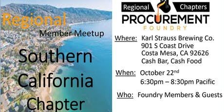 Southern California Member Meetup - October 2019 tickets