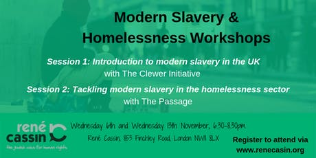 Modern Slavery and Homelessness Workshops tickets