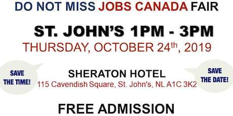 St. John's Job Fair - October 24th,  2019 tickets