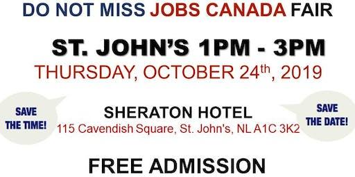 St. John's Job Fair - October 24th,  2019