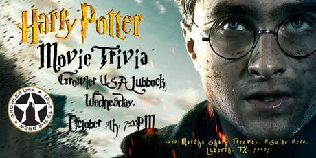 Harry Potter (Movies) Trivia at Growler USA Lubbock tickets