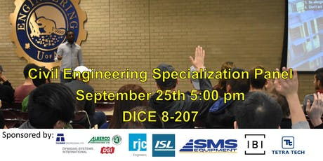 Civil Engineering Specialization Panel tickets