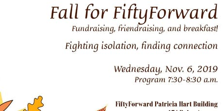 Fall for FiftyForward Breakfast tickets