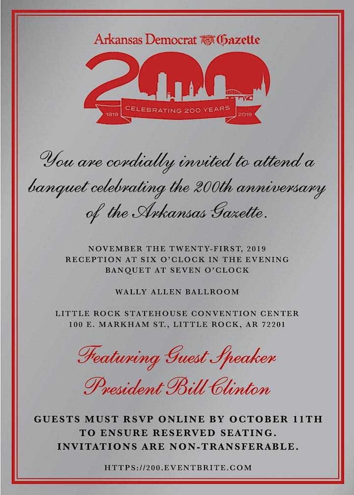 Arkansas Gazette 200th Anniversary Banquet image