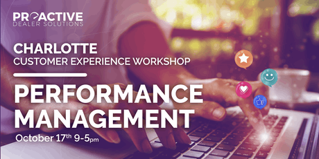 Performance Management - Charlotte Customer Experience Workshop tickets