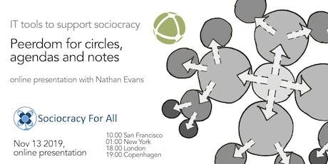 Using Peerdom to organize circles and agendas using sociocracy tickets