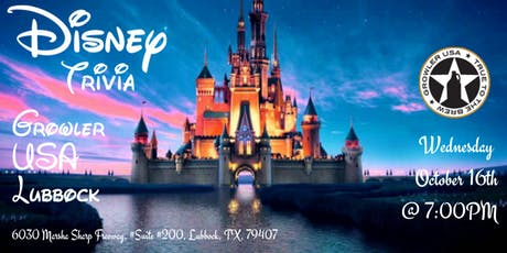 Disney Movie Trivia at Growler USA Lubbock tickets