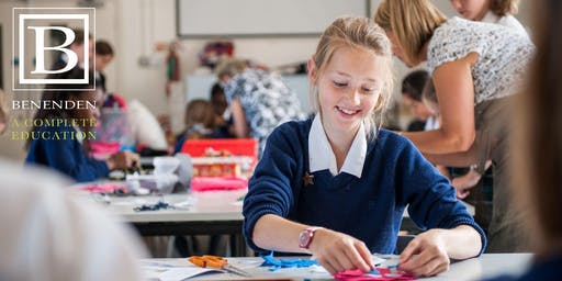 Benenden 11+ Open Morning - Thursday 23 April 2020