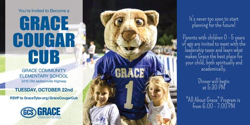 Become a Grace Cougar Cub!
