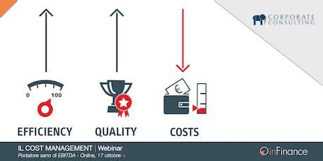 Webinar   Il Cost Management ...portatore sano di EBITDA! biglietti