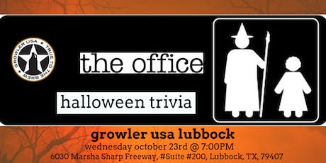 The Office Halloween Episodes Trivia at Growler USA Lubbock tickets