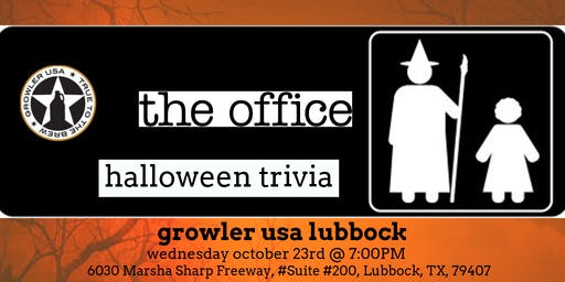 The Office Halloween Episodes Trivia at Growler USA Lubbock
