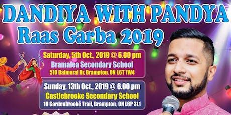 Dandiya with Pandya - Oct 13th, 2019  tickets