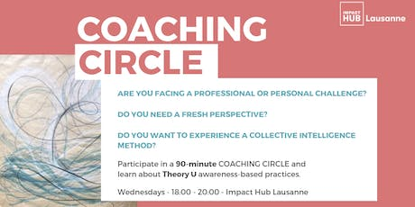 Coaching Circle Impact Hub Lausanne billets