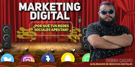 ¿Por qué tus redes sociales apestan? Clase y Tequeñada Gratis de Marketing Digital  tickets