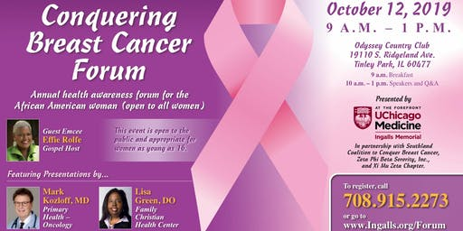 20th Anniversary Conquering Breast Cancer Forum