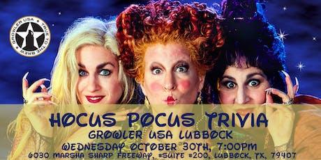 Hocus Pocus Trivia at Growler USA Lubbock tickets