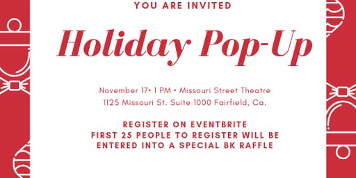 Holiday Pop Up Shopping Event